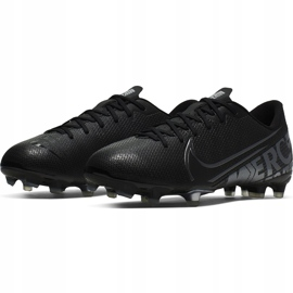 Buty piłkarskie Nike Mercurial Vapor 13 Academy FG/MG Junior AT8123 001 czarne czarne 3