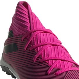 Buty piłkarskie adidas Nemeziz 19.3 Tf różowe F34426 czarne 3