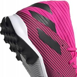 Buty piłkarskie adidas Nemeziz 19.3 Tf różowe F34426 czarne 4