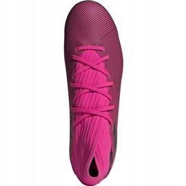 Buty piłkarskie adidas Nemeziz 19.3 Tf różowe F34426 czarne 2