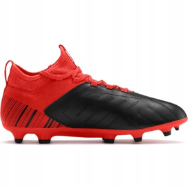 Buty piłkarskie Puma One 5.3 Fg Ag czerwono-czarne 105604 01 czerwone wielokolorowe 1