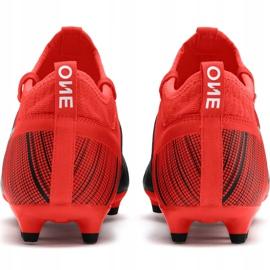 Buty piłkarskie Puma One 5.3 Fg Ag czerwono-czarne 105604 01 czerwone wielokolorowe 4