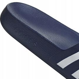 Klapki adidas Adilette Aqua granatowe F35542 białe 7