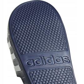 Klapki adidas Adilette Aqua granatowe F35542 białe 4