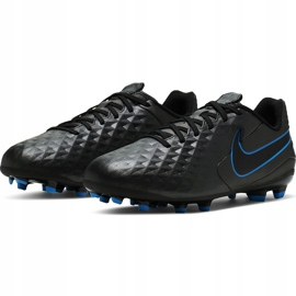 Buty piłkarskie Nike Tiempo Legend 8 Academy FG/MG Junior AT5732 004 czarne czarne 3