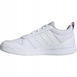 Buty dla dzieci adidas Tensaur K biało-różowe EF1088 białe 1
