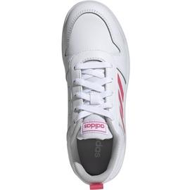Buty dla dzieci adidas Tensaur K biało-różowe EF1088 białe 2