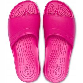 Crocs klapki dla dzieci Classic Slide Kids różowe 204981 6XO 2