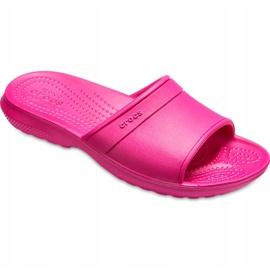 Crocs klapki dla dzieci Classic Slide Kids różowe 204981 6XO 3