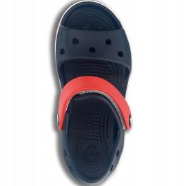 Crocs sandały dla dzieci Crocband Sandal Kids granatowo czerwone 12856 485 granatowe 1