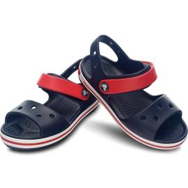 Crocs sandały dla dzieci Crocband Sandal Kids granatowo czerwone 12856 485 granatowe 2