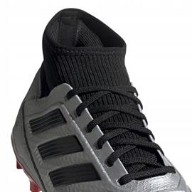 Buty piłkarskie adidas Predator 19.3 Fg srebrne F35595 czerwone srebrny 3