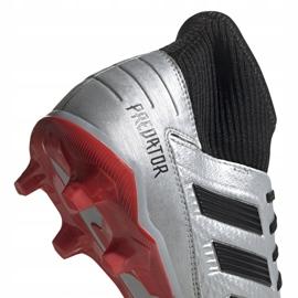 Buty piłkarskie adidas Predator 19.3 Fg srebrne F35595 czerwone srebrny 4