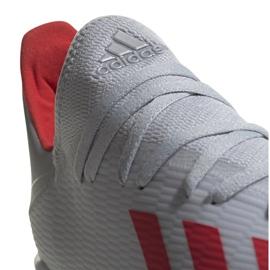 Buty piłkarskie adidas X 19.3 Tf srebrne F35374 wielokolorowe szare 1