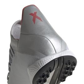 Buty piłkarskie adidas X 19.3 Tf srebrne F35374 wielokolorowe szare 3