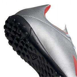 Buty piłkarskie adidas X 19.4 Tf Jr srebrne F35348 srebrny czerwone 4