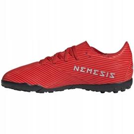 Buty piłkarskie adidas Nemeziz 19.4 Tf Jr czerwone F99935 2
