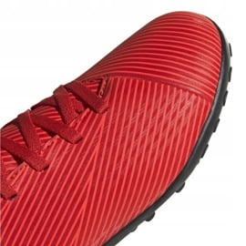 Buty piłkarskie adidas Nemeziz 19.4 Tf Jr czerwone F99935 3