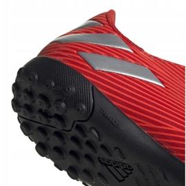 Buty piłkarskie adidas Nemeziz 19.4 Tf Jr czerwone F99935 4