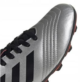 Buty piłkarskie adidas Predator 19.4 FxG Jr srebrne G25822 wielokolorowe srebrny 3