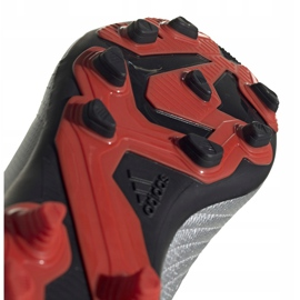 Buty piłkarskie adidas Predator 19.4 FxG Jr srebrne G25822 wielokolorowe srebrny 5