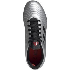 Buty piłkarskie adidas Predator 19.4 FxG Jr srebrne G25822 wielokolorowe srebrny 2