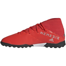 Buty piłkarskie adidas Nemeziz 19.3 Tf Jr czerwone F99941 2