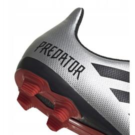 Buty piłkarskie adidas Predator 19.4 FxG Jr srebrne G25822 wielokolorowe srebrny 4