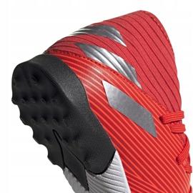 Buty piłkarskie adidas Nemeziz 19.3 Tf Jr czerwone F99941 4