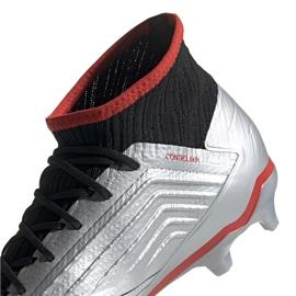 Buty piłkarskie adidas Predator 19.2 Fg srebrne F35601 szare szare 3