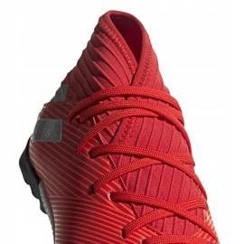 Buty piłkarskie adidas Nemeziz 19.3 Tf Jr czerwone F99941 3