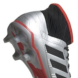 Buty piłkarskie adidas Predator 19.2 Fg srebrne F35601 szare szare 4