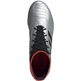 Buty piłkarskie adidas Predator 19.2 Fg srebrne F35601 szare szare 2
