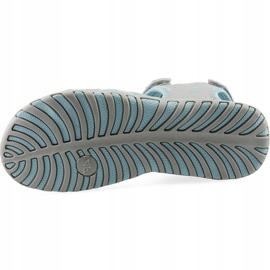 Sandały dla dziewczynki 4F multikolor J4L19 JSAD206 90S niebieskie szare 2