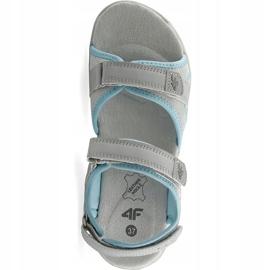 Sandały dla dziewczynki 4F multikolor J4L19 JSAD206 90S niebieskie szare 1