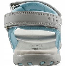 Sandały dla dziewczynki 4F multikolor J4L19 JSAD206 90S niebieskie szare 3