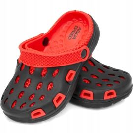 Klapki basenowe dla dzieci Aqua-speed Silvi kol 31 czarno czerwone czarne 1
