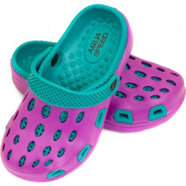 Klapki basenowe dla dzieci Aqua-speed Silvi kol 09 fioletowo niebieskie fioletowe 1