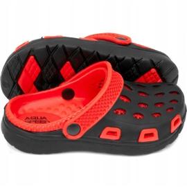 Klapki basenowe dla dzieci Aqua-speed Silvi kol 31 czarno czerwone czarne 2