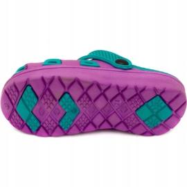 Klapki basenowe dla dzieci Aqua-speed Silvi kol 09 fioletowo niebieskie fioletowe 3