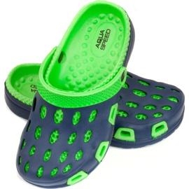 Klapki basenowe dla dzieci Aqua-speed Silvi kol 48 zielono granatowe zielone 1