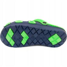 Klapki basenowe dla dzieci Aqua-speed Silvi kol 48 zielono granatowe zielone 3