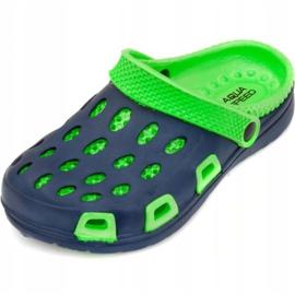 Klapki basenowe dla dzieci Aqua-speed Silvi kol 48 zielono granatowe zielone 2