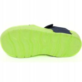 Klapki basenowe dla dzieci Aqua-speed Noli zielono granatowe kol.84 zielone 3