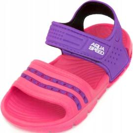 Klapki basenowe dla dzieci Aqua-speed Noli różowo fioletowe kol.39 różowe 2
