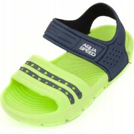 Klapki basenowe dla dzieci Aqua-speed Noli zielono granatowe kol.84 zielone 2