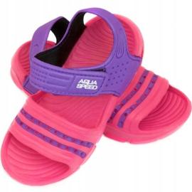 Klapki basenowe dla dzieci Aqua-speed Noli różowo fioletowe kol.39 różowe 1