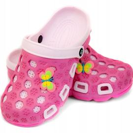 Klapki basenowe dla dzieci Aqua-speed Hawaii różowe kol.03 1