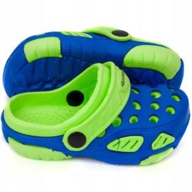 Klapki basenowe dla dzieci Aqua-speed Lido kol 01 niebiesko zielone niebieskie 2
