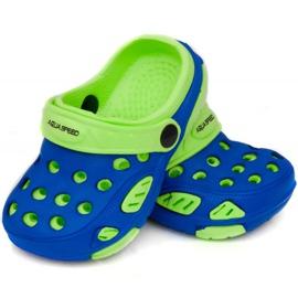 Klapki basenowe dla dzieci Aqua-speed Lido kol 01 niebiesko zielone niebieskie 1
